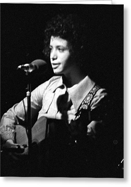 Janis Ian On Stage 1960s Greeting Card