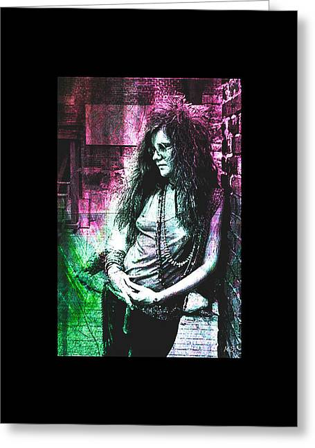 Janis Joplin - Pink Greeting Card
