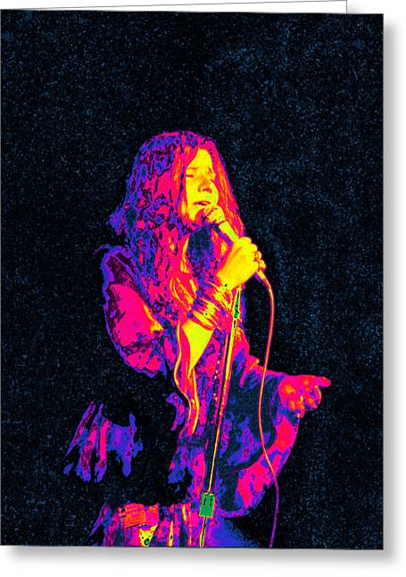 Janis Joplin Psychedelic Fresno  Greeting Card by Joann Vitali