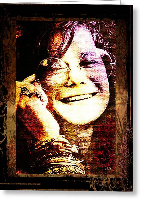 Janis Joplin - Upclose Greeting Card