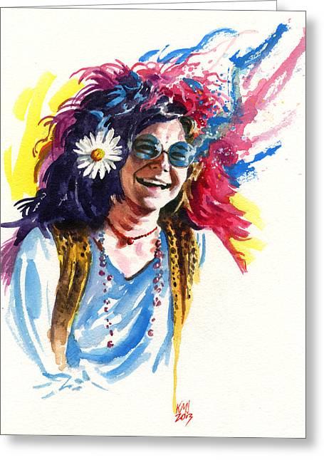 Janis Greeting Card by Ken Meyer jr