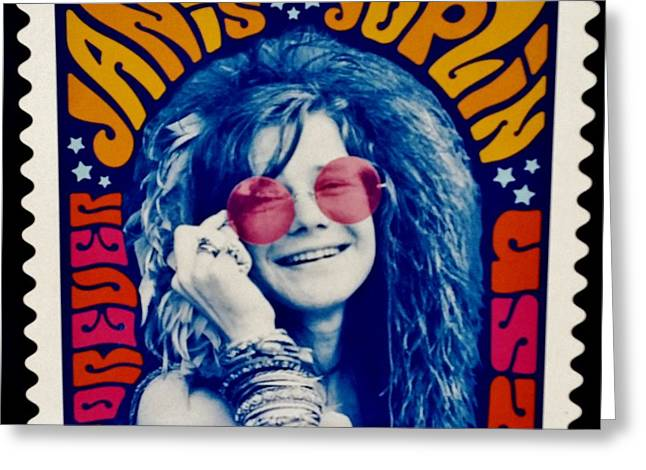 Janis Stamp In A Groovy Vibe Greeting Card by Rob Hans