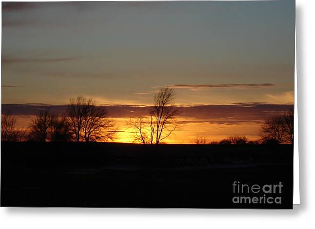 January 13th Sunset Greeting Card by J L Zarek