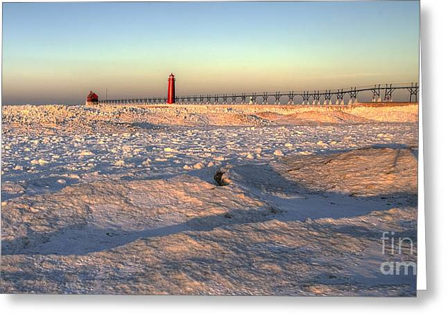 January In Grand Haven Greeting Card