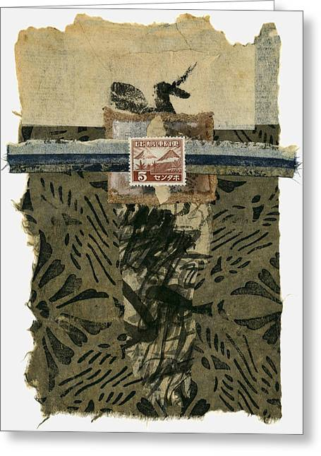 Japan 1943 Collage Greeting Card by Carol Leigh