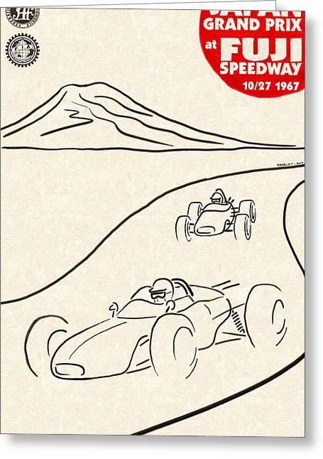 Japan Grand Prix 1967 Greeting Card by Georgia Fowler
