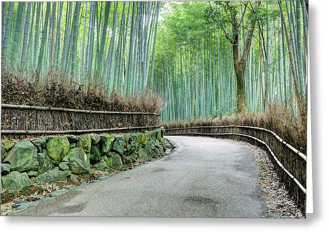 Japan, Kyoto Road Greeting Card by Jaynes Gallery