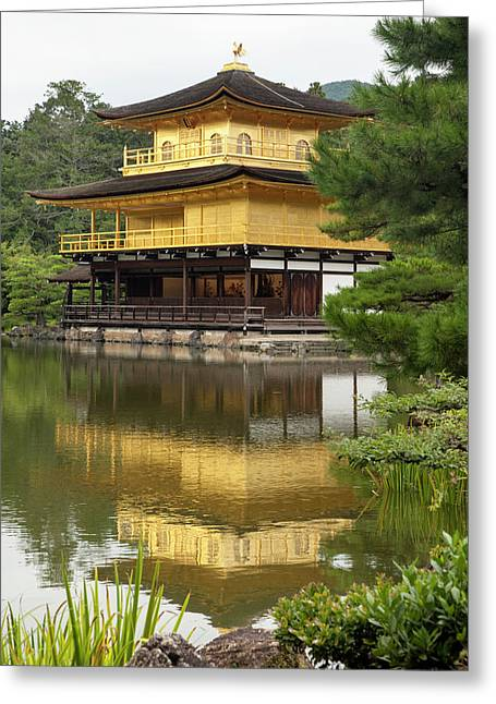 Japan, Kyoto Temple Of The Golden Greeting Card by Jaynes Gallery