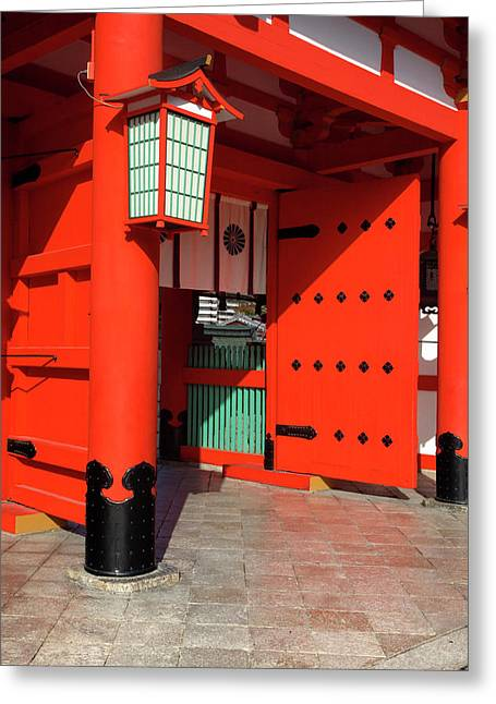 Japan, Kyoto The Entrance Greeting Card by Jaynes Gallery