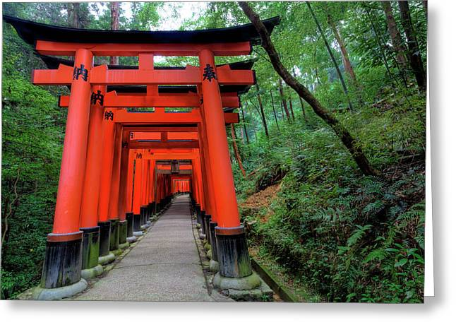 Japan, Kyoto Torii Gates Greeting Card by Jaynes Gallery