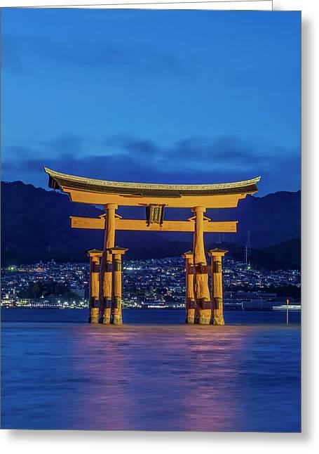 Japan, Miyajima, Itsukushima Shrine Greeting Card