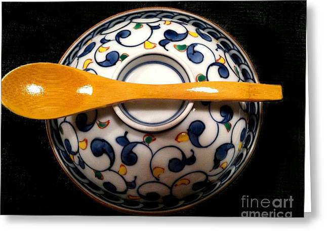 Greeting Card featuring the photograph Japanese Bowl by Carol Sweetwood