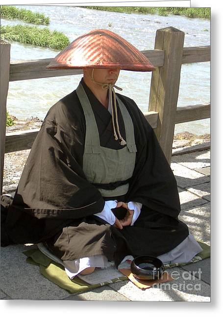 Japanese Buddhist Monk Greeting Card