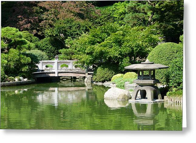 Greeting Card featuring the photograph Japanese Friendship Garden by Cindy McDaniel