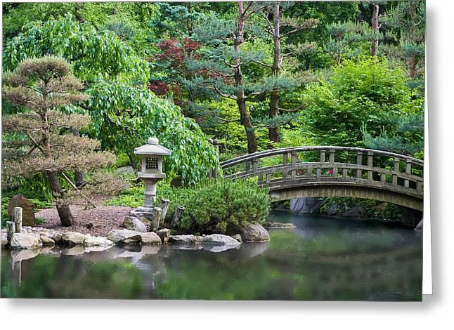 Japanese Garden Greeting Card by Adam Romanowicz