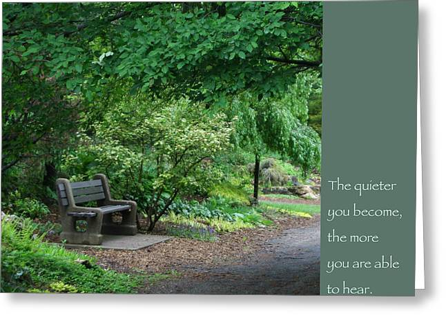 Japanese Garden Bench  Greeting Card