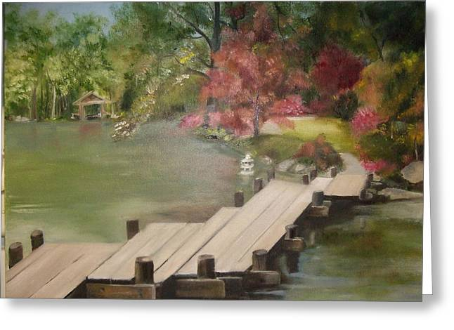 Japanese Garden Maymount Greeting Card