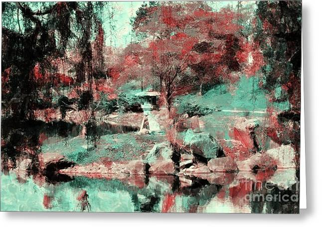 Japanese Garden's Greeting Card by Kathleen Struckle