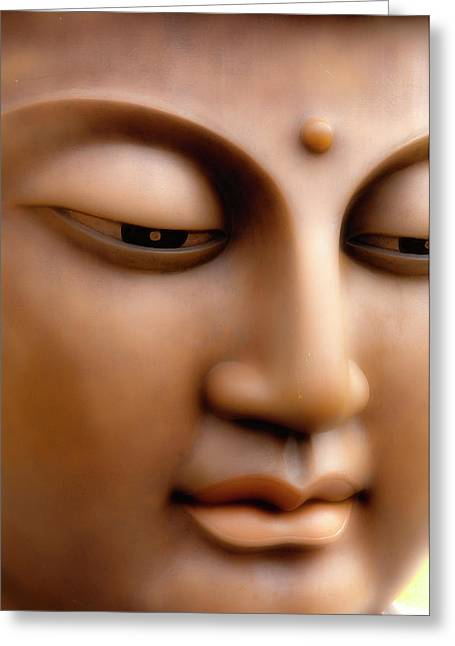 Japanese Great Buddha Face Greeting Card