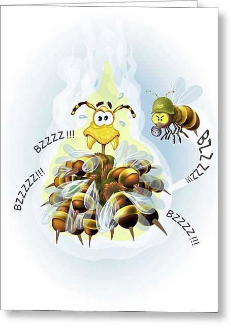 Japanese Honey Bee Thermal Defence Greeting Card