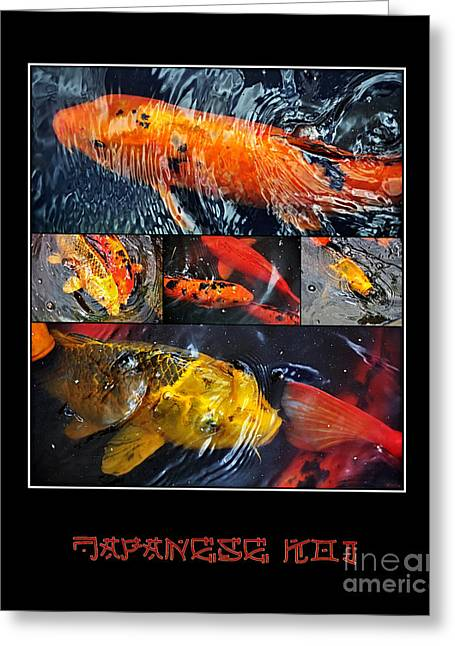 Japanese Koi Greeting Card by Kaye Menner