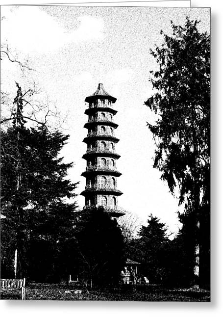 Japanese Pagoda At Kew Gardens Greeting Card