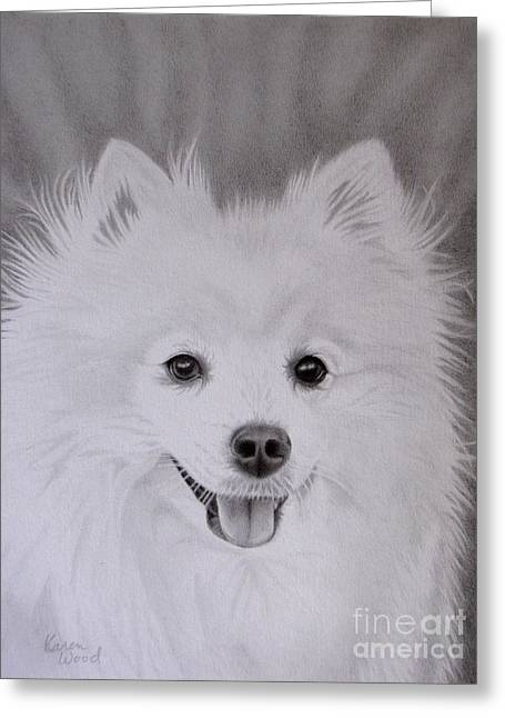 Japanese Spitz Greeting Card