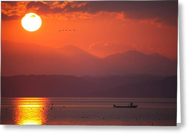 Japanese Sunset Greeting Card