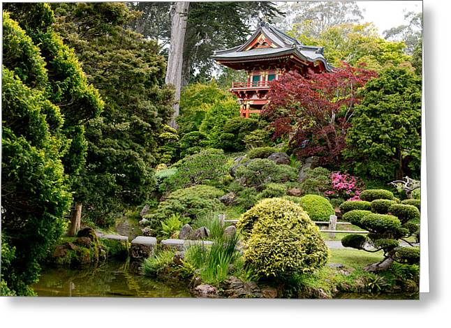 Japanese Village Gardens In San Francisco Greeting Card