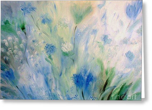 Jardin Bleu Greeting Card by Julie Brugh Riffey
