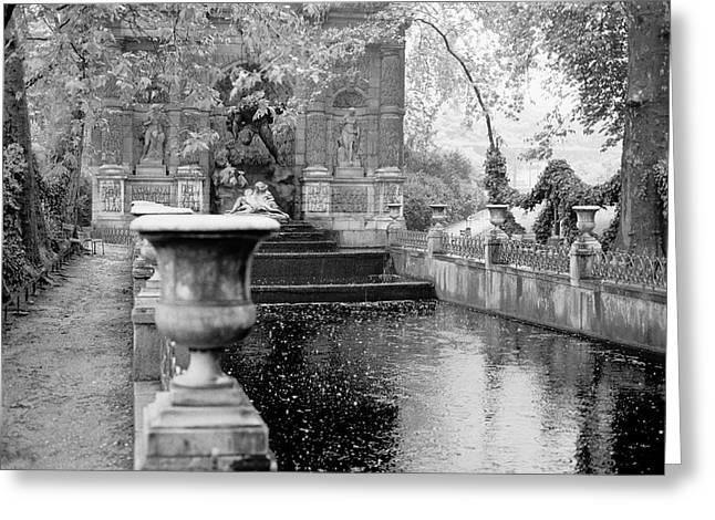 Jardin De Medicis Paris Greeting Card