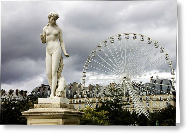 Jardin Des Tuileries Greeting Card by Fabrizio Troiani