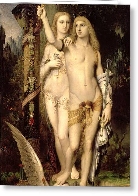 Jason And Medea Greeting Card by Gustave Moreau