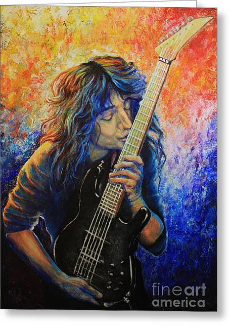 Jason Becker Greeting Card by Tylir Wisdom