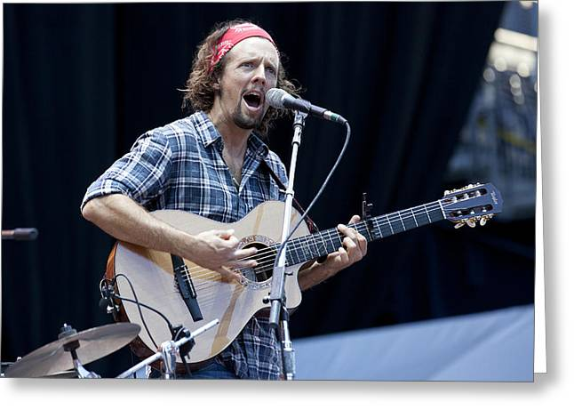 Greeting Card featuring the photograph Jason Mraz by Shawn Everhart