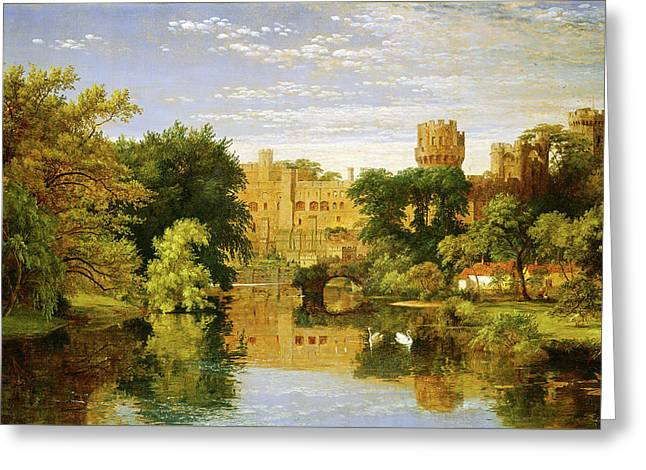Jasper Francis Cropsey, Warwick Castle, England Greeting Card by Quint Lox