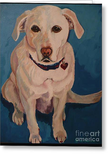 Greeting Card featuring the painting Jasper by Janet McDonald