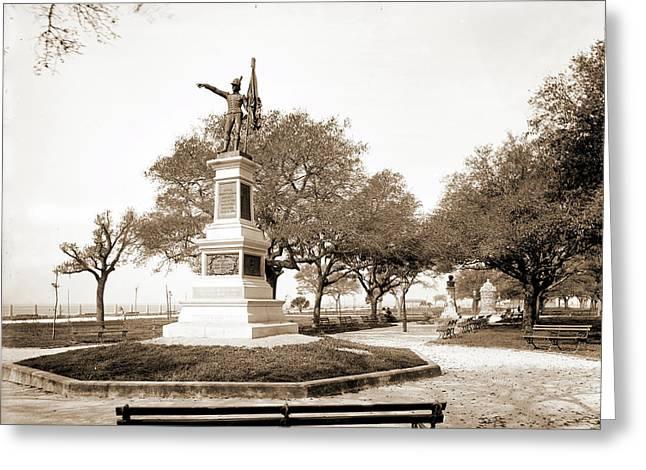 Jasper Monument, White Point Garden, Charleston Greeting Card