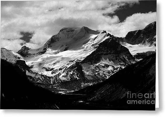 Jasper - Mt. Athabasca Monochrome Greeting Card