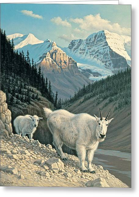 Jaspergoats Greeting Card by Paul Krapf