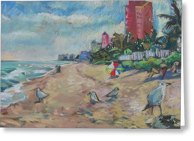 Jaunty Beach Birds Greeting Card