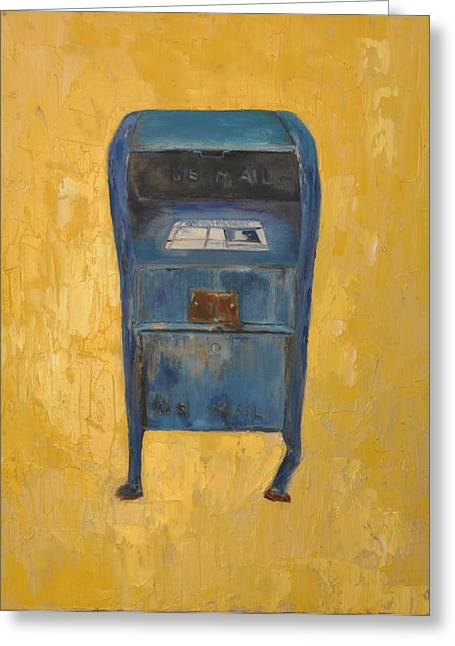 Jaunty Mailbox Greeting Card by Lindsay Frost