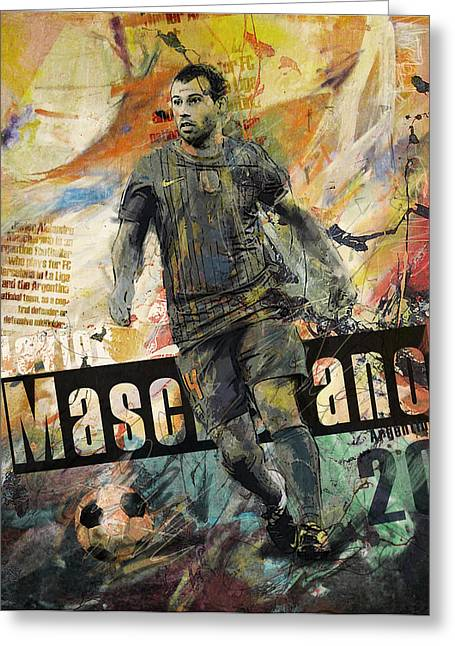 Javier Mascherano - B Greeting Card by Corporate Art Task Force