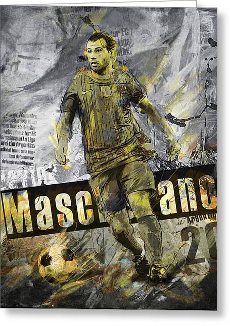 Javier Mascherano - C Greeting Card by Corporate Art Task Force