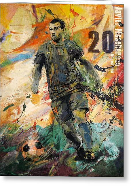 Javier Mascherano Greeting Card by Corporate Art Task Force
