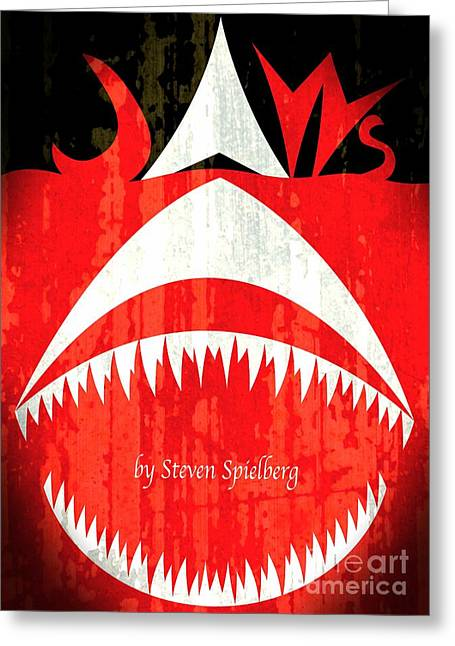 Jaws Minimalist Poster  Greeting Card by Stefano Senise