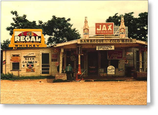 Jax Juke Joint Melrose Louisiana Greeting Card by Marion Wolcott