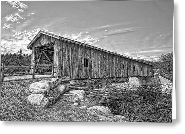 Jay Covered Bridge Greeting Card
