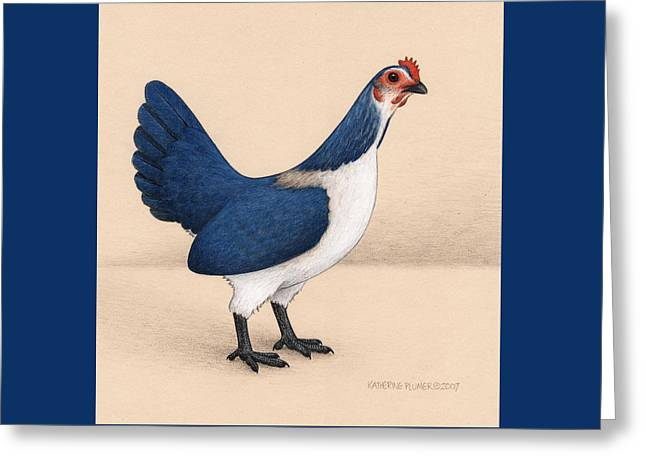 Jay Hen Greeting Card by Katherine Plumer
