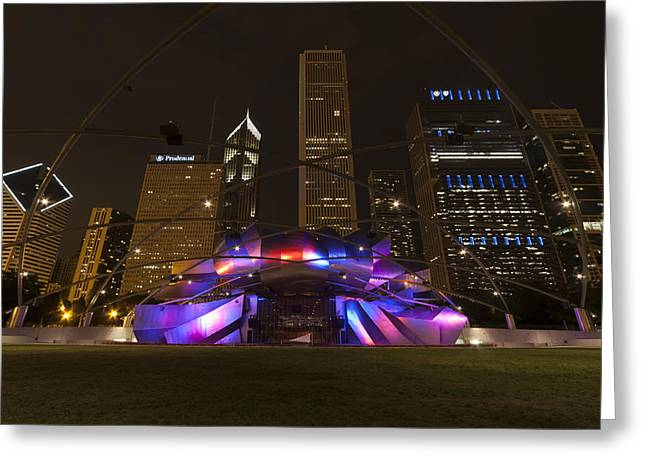 Jay Pritzker Pavilion Chicago Greeting Card by Adam Romanowicz